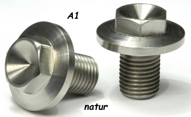 Titan - front wheel axle screw nature